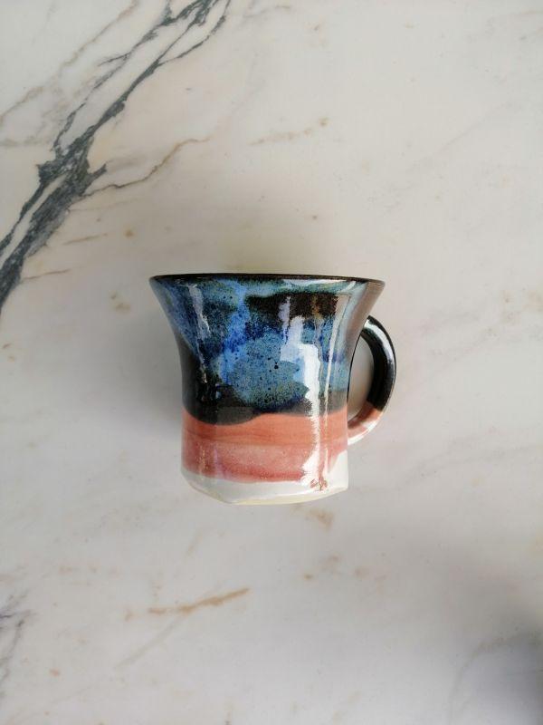 Tapfer roosa / tumesinine tass