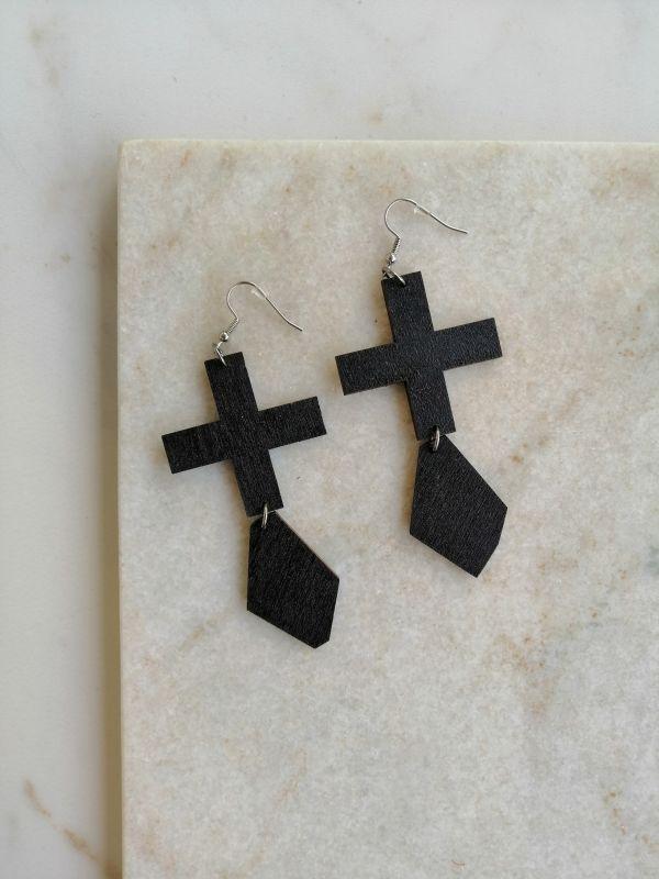 La.Kiva black diamonds kõrvarõngad