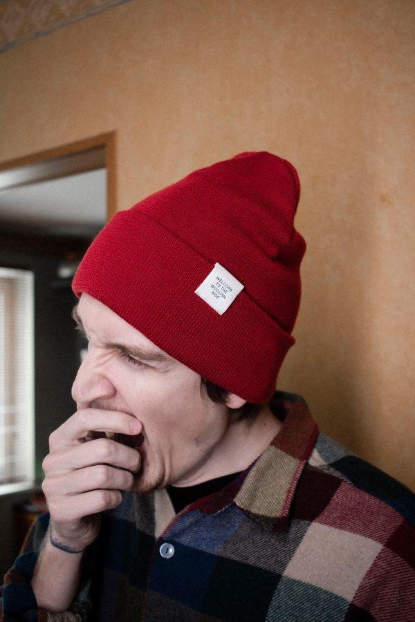 Iki meriino müts punane