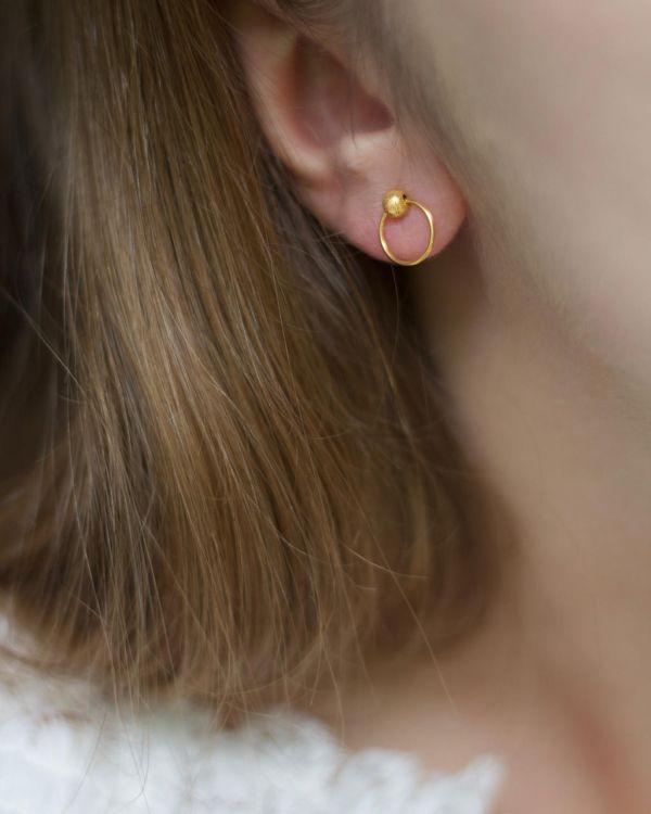 Helge Nima kuld kõrvarõngad