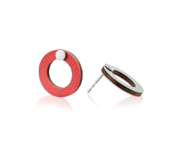 Baks kõrvarõngad punane / hele münt