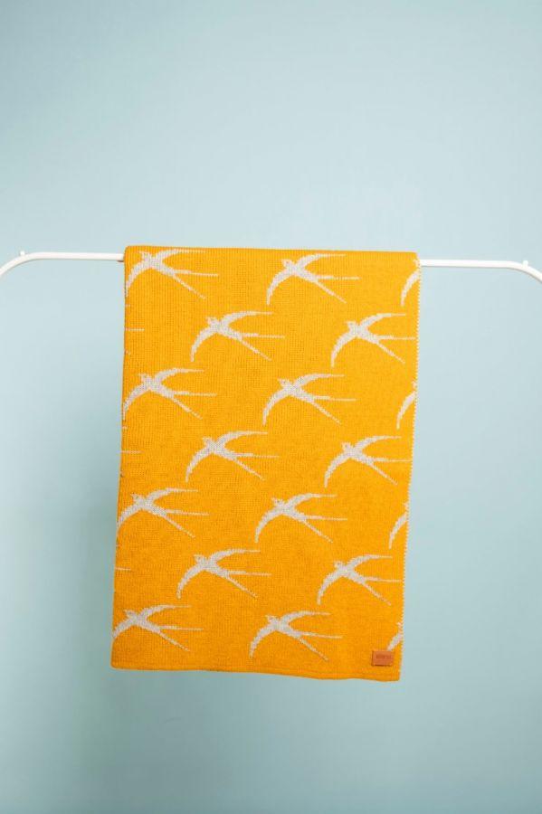 Swallow blanky yellow / grey
