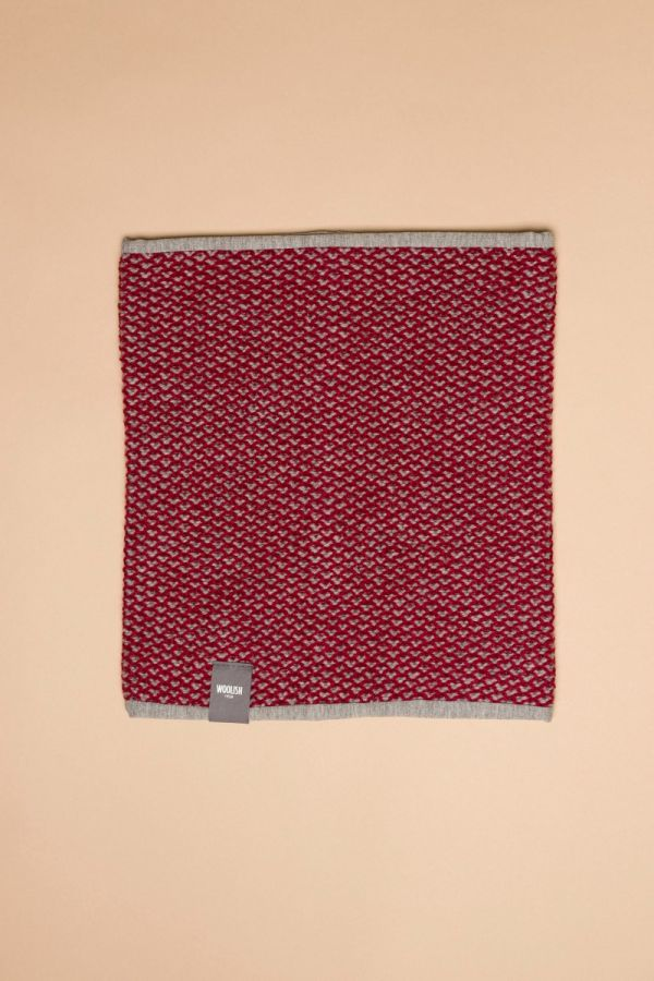 Tuk-tuk tube scarf red / grey
