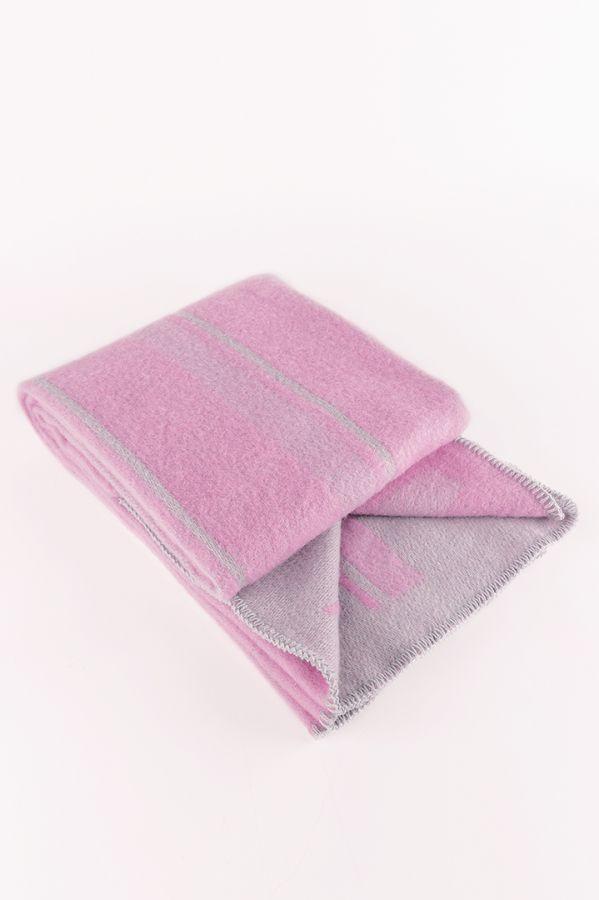 Lane throw pink / grey
