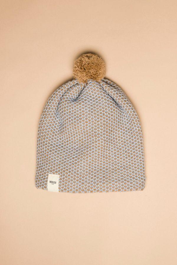 Tuk-tuk hat beige / light blue
