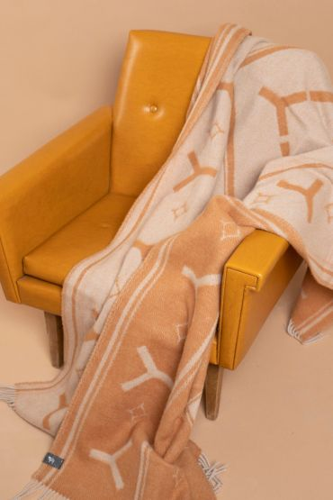 Boho throw camel / beige