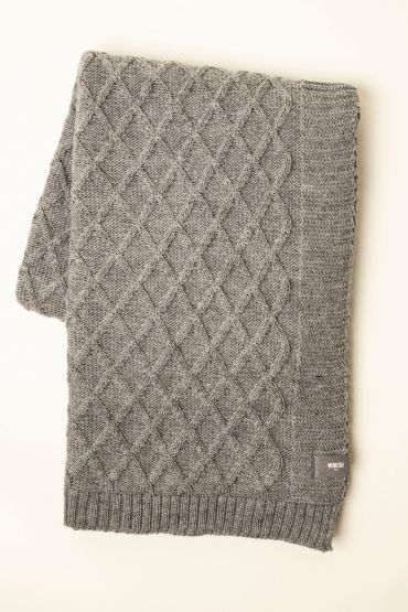 Rhombe throw light grey