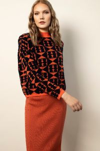 Sakiko pullover orange/blue