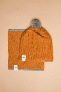 Tuk-tuk tube scarf orange / grey