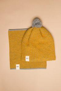Tuk-tuk tube scarf apricot / grey