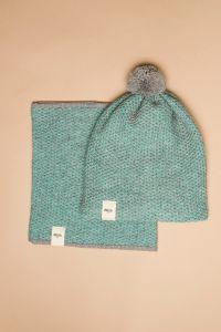 Tuk-tuk tube scarf turquoise / grey