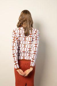 Sakiko pullover white/copper