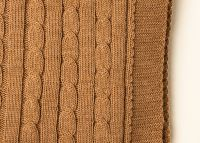 Cable throw brown sugar