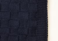 Square throw navy blue